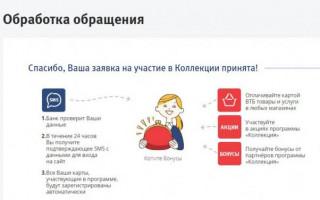 Бонус ВТБ24 — программа коллекция личный кабинет вход в систему