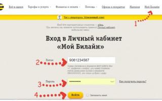 Билайн личный кабинет Екатеринбург