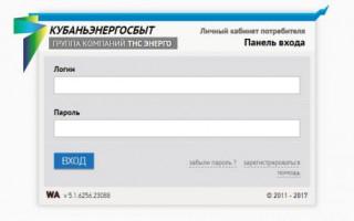 Личный кабинет «ТНС энерго Кубань»: авторизация и доступные возможности