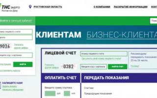 Как создать учетную запись в личном кабинете ТНС Энерго Ростов