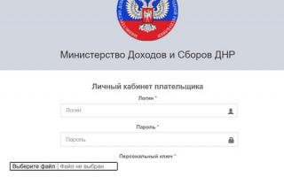 Личный кабинет для плательщика ДНР: инструкция по регистрации, восстановление пароля