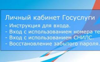 ГосУслуги Подольск личный кабинет вход на сайт