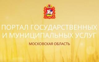 Госуслуги РФ — Московская область вход в личный кабинет