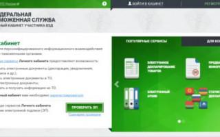 Инструкция к личному кабинету сайта таможни России